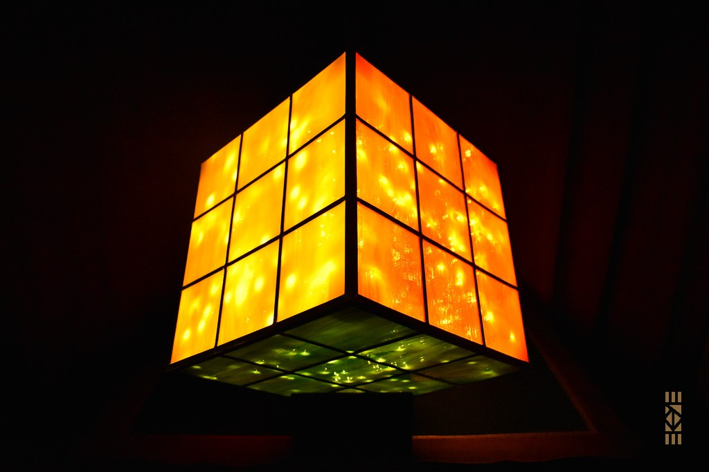 Cube Fini blanc blanc orange vert | l'Art au Cube | EKAYE