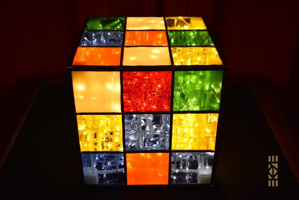 Cube Mélangé de face à plat | l'Art au Cube | EKAYE
