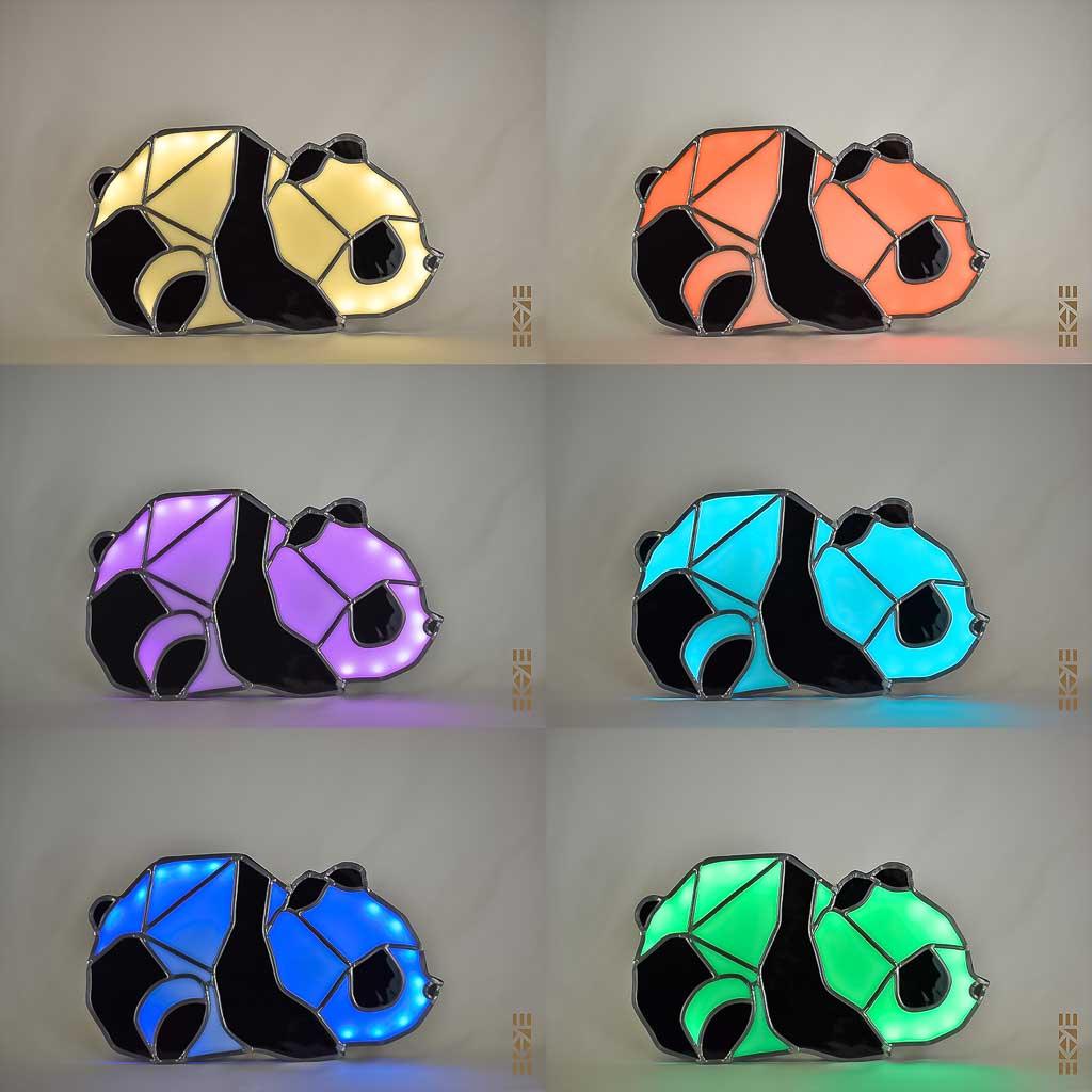 Ekaye | Le Bourdon et la luciole | Veilleuse Panda couleurs