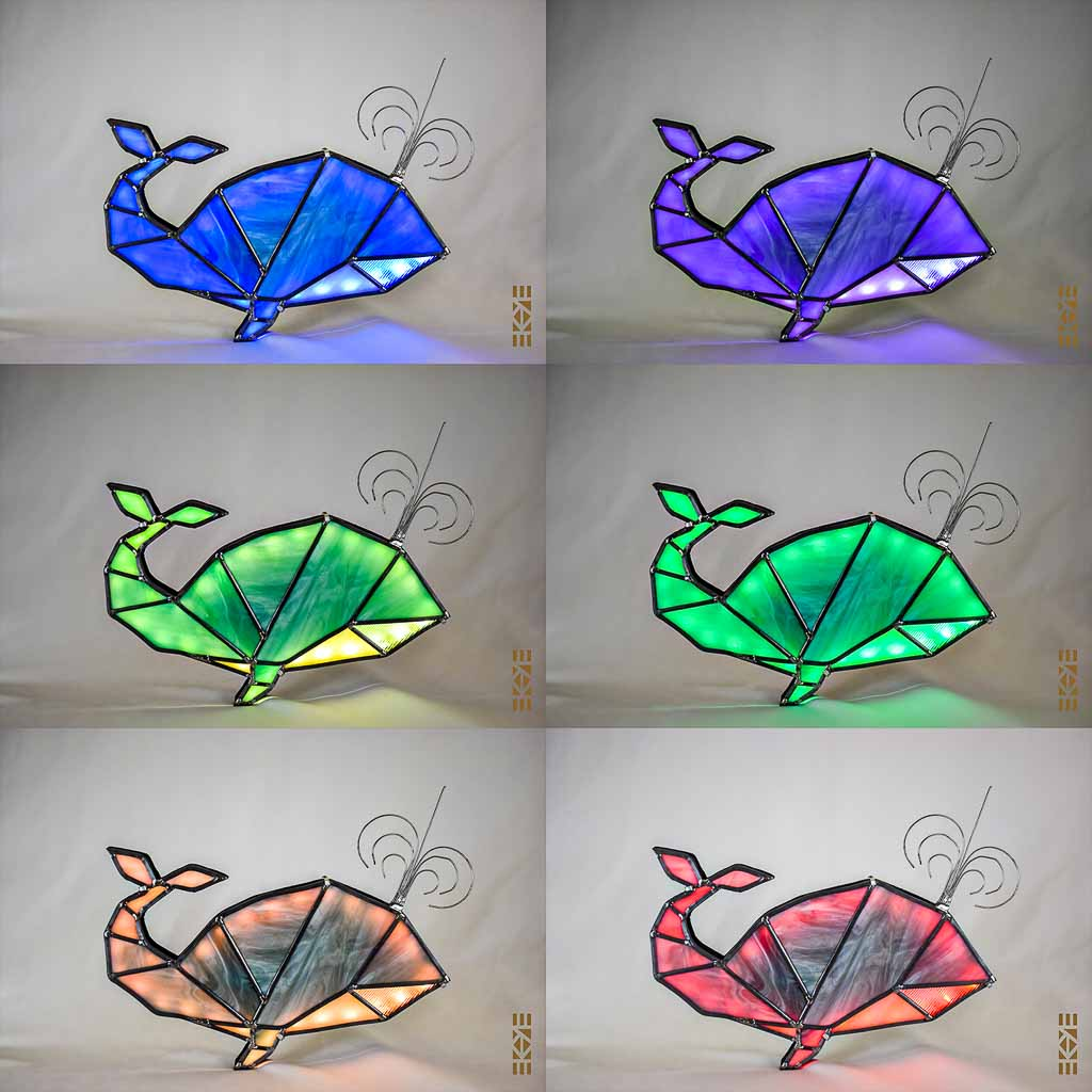 Veilleuse Baleine couleurs| Le Bourdon et la luciole | EKAYE