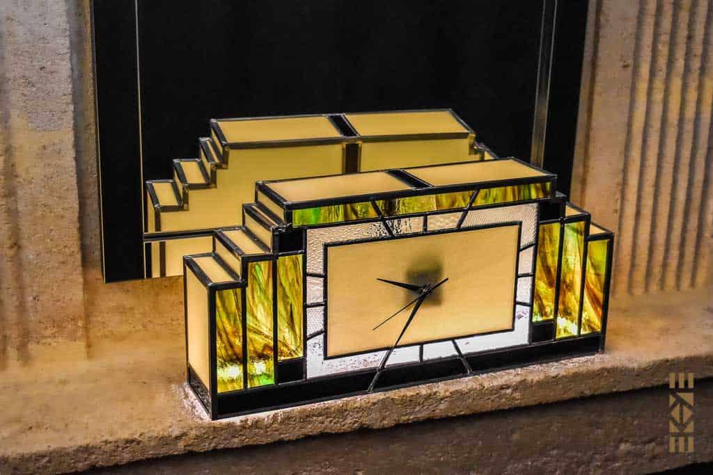 EKAYE Art Déco Horloge Lampe Robert M.S.