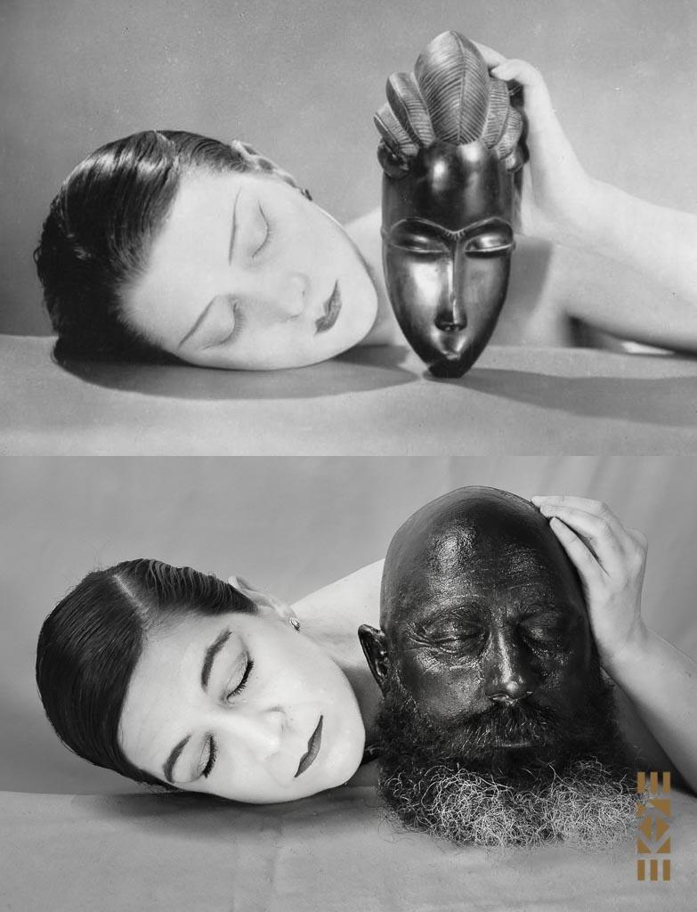 Réinterprétation de Man Ray, Noir et blanche, 1926 par EKAYE