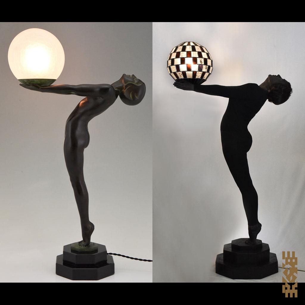 Réinterprétations EKAYE - Max Le Verrier Clarté 1928 Lampe Alfons M.-333
