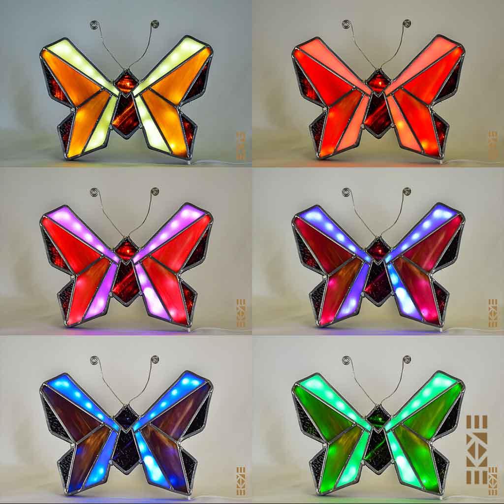 Veilleuse murale Papillon EKAYE Couleurs